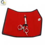 G.S HIGH QUALITY JAPANESE PROFESSIONAL SWIVEL THUMB BARBER RAZOR EDGE HAIR CUTTING SCISSOR SHEAR 5.5 + FREE SCISSOR POUCH & FREE SCISSOR LUBRICANT AND SCISSOR INSERT RINGS