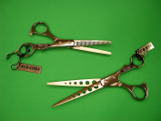 Alu-Coba 18cm Hair Cutting Shears and Thinning Shears Combo Set Model