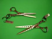 Alu-Coba 18cm Hair Cutting Shears and Thinning Shears Combo Set Model