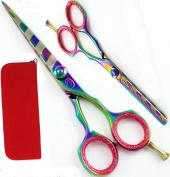 14cm Professional Hairdressing Scissors Thinners Barber Hair Shearstitanium SET