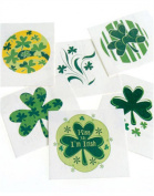 12 Green St. Patrick's Day Temporary Tattoos Shamrock Irish