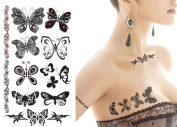 Supperb® Temporary Tattoos - Black & White Butterflies