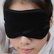 iSleep Pure Silk Sleeping Eye Mask Eyeshade 22*10CM Black