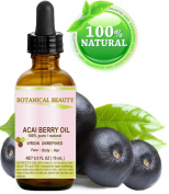 ACAI BERRY OIL. 100% Pure/ Natural Cold Pressed Carrier Oil. 0.5 fl.oz-15 ml. For Skin, Hair, Lip and Nail Care.