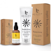 Sunscreen Kit - Facial Cream with SPF and Sunblock Bundle - With Organic and Natural Ingredients to Provide Sun Protection for Face and Body. Best for Preventing Signs of Early Ageing and Sun Damage
