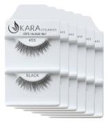 KARA Professional 100% Natural Human Hair Hand Crafted Eyelashes 6Pairs