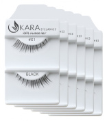 KARA Professional 100% Natural Human Hair Hand Crafted Eyelashes 6Pairs