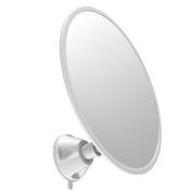 Gideon™ Fogless Shower Mirror with Strong Suction-Cup Mounting Base - 3X Magnifying, 18cm Diam., 360 Degree Rotating for Optimal View Position - For Shaving, Hairstyling and Makeup Application