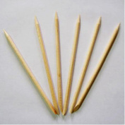50 x 7cm Short Orange Wooden Sticks for Nail Art Tips Manicure Pedicure