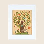 Petit Collage Unframed Print on Wood, Tree, Small