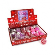 Wholesale Valentine Putty Filled Spin Top Display Set of 144