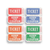Creative Converting 132503 Ticket Roll - 50/50 Red/Bl/Or/Gr