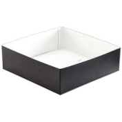 H103-2094 10 x 25cm x 7.6cm . Swirl Hi-Wall Gift Box Bottom & #44; Black
