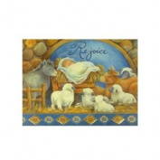 Trimmery Rejoice Baby Jesus & Animals Manger Scene Christian Christmas Cards