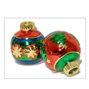 Living Quarters Ceramic Ornament Taper Candle Holder Set - Gift Boxed