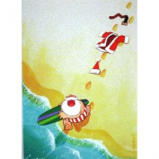 Santa Goes Surfing Kersten Boxed Christmas Holiday Cards