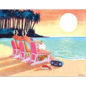 Beach Chair Sunset Kersten Boxed Christmas Holiday Cards