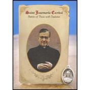 Milagros MC024 Josemar Escriv (Diabetes) Healing Holy Card with Medal