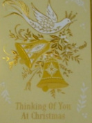Dayspring Gold Dove Christian Christmas Cards Thinking of You 1 John 4:9
