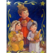 Trimmerry Child Wisemen Going to See Jesus Christian Christmas Cards
