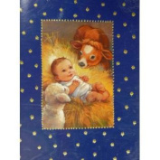 Trimmerry Baby Jesus Manger Scene Christian Christmas Cards