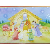 Trimmerry Nativity Scene Christian Christmas Cards with Baby Jesus in a Manger