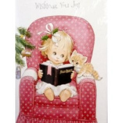 Trimmery Little Girl Reading Her Bible Christian Christmas Cards