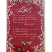 TRIMMERRY Red Christmas Prayer Christian Christmas Cards Bless the Families