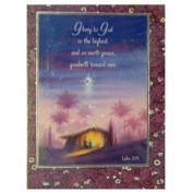 Trimmerry Glory To God Christian Christmas Cards with Bible Verse Luke 2:14