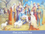 Dayspring Blue Come & Behold Him Jesus In The Manger Christian Christmas Cards