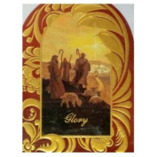 Trimmerry Red & Gold Wisemen Christian Christmas Cards Glory to God
