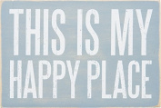 This Is My Happy Place - Mailable Wooden Greeting Post Card 15cm