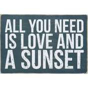 All You Need Is Love And A Sunset - Mailable Wooden Greeting Post Card 15cm