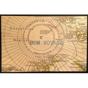 Vintage Cedar Mailable Wooden Post Card (Bon Voyage