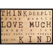 Vintage Cedar Mailable Wooden Post Card