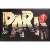 Vintage Cedar Mailable Wooden Post Card (Paris City View