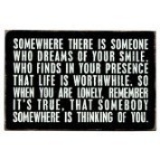Somewhere There Is Someone Who Dreams Of Your Smile - Mailable Inspirational Wooden Greeting Card