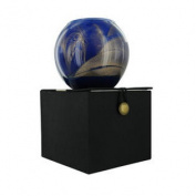 Cobalt Candle Globe The Inside Of This 10cm Polished Globe Is Painted With Wax Burns Approximately 50 Hrs