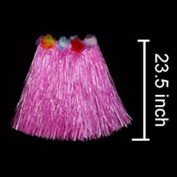 Oparty Adult Grass Skirt Pink Hula Skirt-Pink 60cm Long