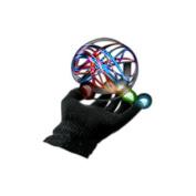Blinkee Halloween Party Costume LED Black Rave Gloves Rainbow LEDs