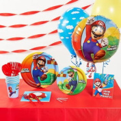 BirthdayExpress 252998 Super Mario Brothers Basic Party Pack