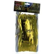 Gold Metallic Foil Fringe Table Skirt 370cm x 80cm Party Decoration