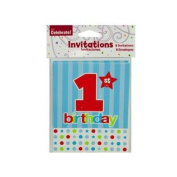 Wholesale 8 Pack 1St Birthday Invites Set of 144