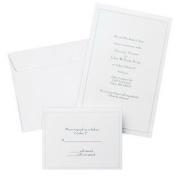 (Price/package)Gartner Studios 61001 Pearl White Border Wedding Invitation Kit