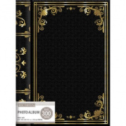 K & Company 3 Up Spiral Memo Photo Album -Black