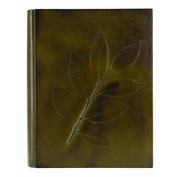 Eccolo Made in Italy Green Leather Alloro Album Scrapbook, 23cm x 30cm With 50 Ivory Pages