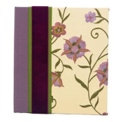 Molly West 2087 Archival-Quality 120-Photo-Capacity Memory Album with Embroidered Silk Cover, Passion Flower