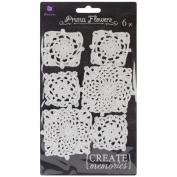 Crochet Doilies 6/Pkg Square, White