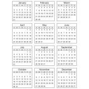 Srm Mini Standard Calendar Stickers-2016