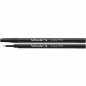 Schneider Topball 850-05 Premium Rollerball Pen Refills, Black Ink, Box of 10